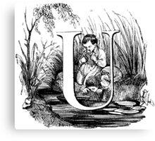 Child Alphabet Letter U Canvas Print