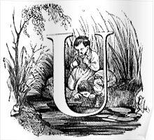 Child Alphabet Letter U Poster