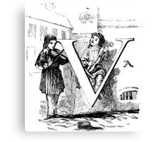 Child Alphabet Letter V Canvas Print