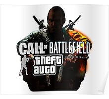 Call of Battlefield Theft Auto GO Poster