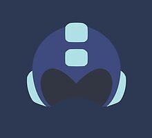 Flat Helmet - Mega Man by KrielMiran