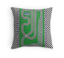 International Race Track - Perfect for Toy Cars! Throw Pillow