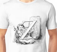 Child Alphabet Letter Z Unisex T-Shirt