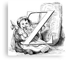 Child Alphabet Letter Z Canvas Print