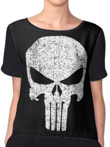 The Punisher Skull Chiffon Top