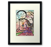 B is for Belle Framed Print