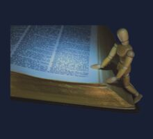 Small Wooden Manikin Using A Dictionary Kids Clothes