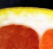 Pink grapefruit cross section by AWLPIX