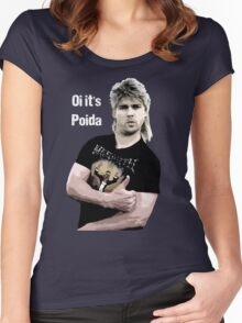 Poida Full Frontal Aussie Funny Shirt Women's Fitted Scoop T-Shirt