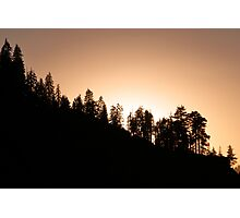 Sunset over Glacier Point Photographic Print