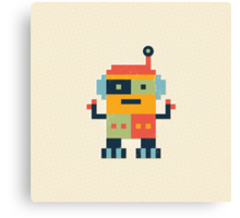 Happy Robot Canvas Print
