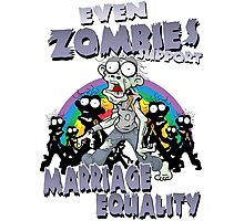 Zombies Support Marriage Equality Photographic Print