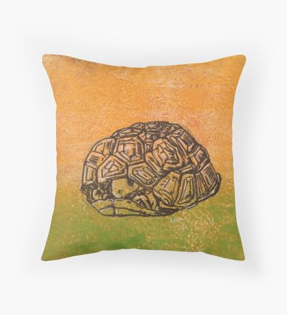 Peek-a-boo tortoise! Throw Pillow