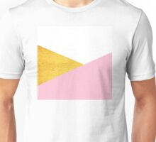 Gold & Pink Geometry Unisex T-Shirt