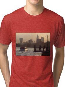 Life By The River Thames, London Tri-blend T-Shirt