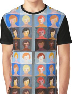 Pop Art Portrait Variations Graphic T-Shirt
