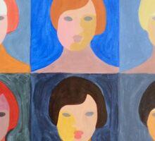 Pop Art Portrait Variations Sticker