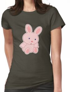 Bunny with sore foot Womens Fitted T-Shirt