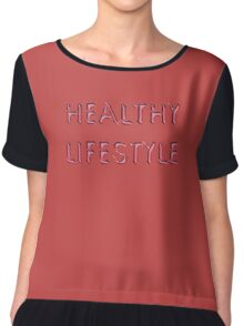 Healthy Lifestyle Chiffon Top