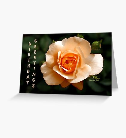 Birthday Greetings Rose Greeting Card