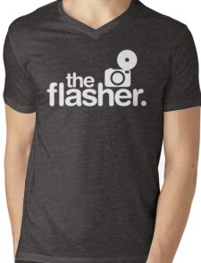 Photographer The Flasher Mens V-Neck T-Shirt