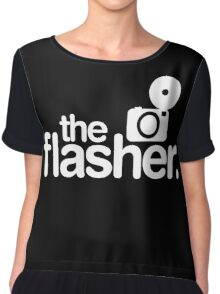Photographer The Flasher Chiffon Top