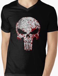 The Punisher Bloody Skull Mens V-Neck T-Shirt