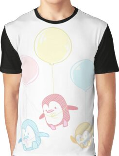 Balloon Penguins Graphic T-Shirt