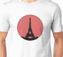 Paris Eiffel Tower - Minimalist Design (silhouette) Unisex T-Shirt