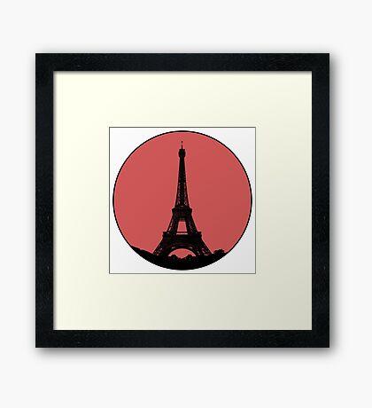 Paris Eiffel Tower - Minimalist Design (silhouette) Framed Print
