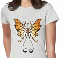 Fun Playful Butterfly! Womens Fitted T-Shirt