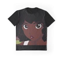Afro Anime Graphic T-Shirt