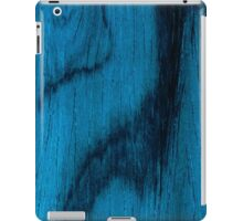 Beautiful Unique blue wood veneer design iPad Case/Skin