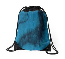Beautiful Unique blue wood veneer design Drawstring Bag