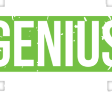 Political Science - Genius is Not an Official Major Sticker