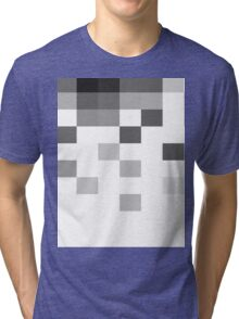 Gray Scale In Pixels Tri-blend T-Shirt