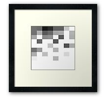 Gray Scale In Pixels Framed Print