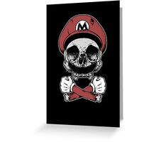 Mario Death Squad Greeting Card