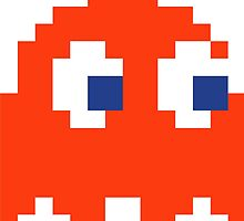 Red Pacman Ghost by Legitbit