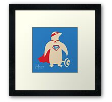 Super Penguin!!! Framed Print