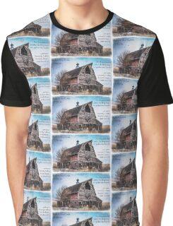 Matthew 6:26 (Old Barn & Birds) Graphic T-Shirt