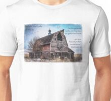 Matthew 6:26 (Old Barn & Birds) Unisex T-Shirt