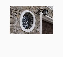 Oval Window Reflections - High Garden Wall and Gate Unisex T-Shirt
