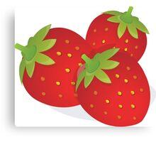 Food Fruit Plant Strawberries  Canvas Print