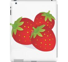 Food Fruit Plant Strawberries  iPad Case/Skin