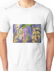 Wisteria Blooming - Triptych Unisex T-Shirt