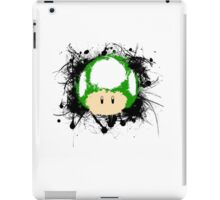 Abstract Paint Splatter 1up Mushroom iPad Case/Skin