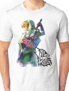 Zelda Link with Wolf Unisex T-Shirt