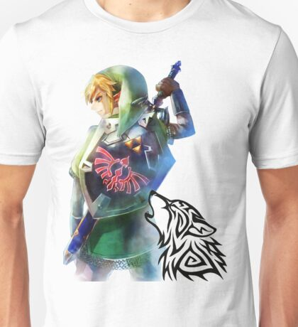 Zelda Link with Wolf Unisex T-Shirt