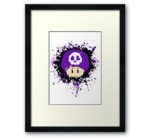 Abstract Super Mario Poison (purple) Mushroom Framed Print